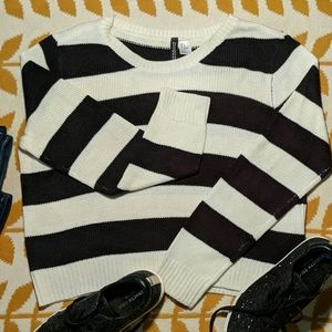 H&M Divided Striped Pullover Sweater